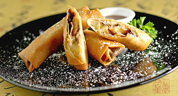 how to make chocolate spring roll